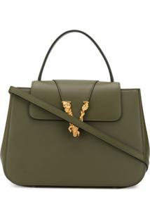 Versace Virtus Top Handle Bag - Verde