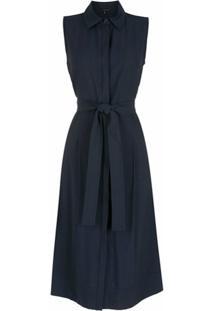 Alcaçuz Vestido Midi Sidra - Azul