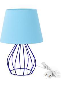 Abajur Cebola Dome Azul Bebe Com Aramado Azul - Azul - Dafiti