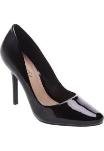Sapato Tradicional Envernizado- Preto- Salto: 9,5Cmarezzo & Co.
