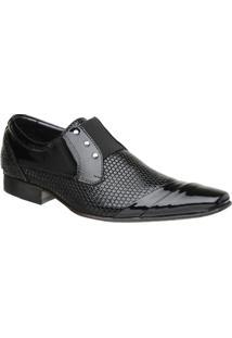 Sapato Malbork Masculino Em Couro Verniz Com Elástico 378 - Masculino