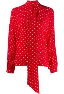 Balenciaga Blusa Com Poás - Vermelho