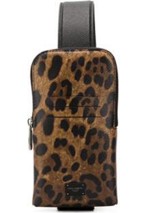 Dolce & Gabbana Bolsa Transversal Animal Print - Neutro