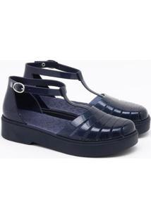 Sandália Zaxy Style Mary Jane Feminina - Feminino-Azul Escuro