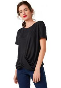 Camiseta Amaro Malha Transpasse Feminina - Feminino