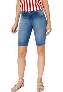 Bermuda Denin Energia Fashion Azul Jeans Indigo