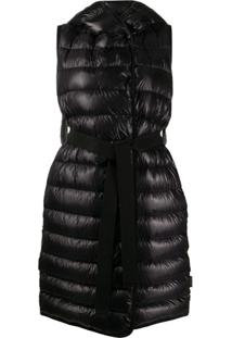 Moncler Padded Long-Length Gilet - Preto