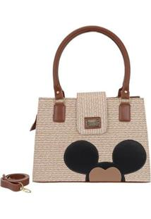 Bolsa Mickey Mouse Feminina Alça Transversal Forrada Moderna - Feminino