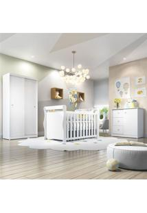 Quarto De Beb㪠Dom Com Berã§O/Cã´Moda/Guarda-Roupa De 2 Portas Branco - Branco - Dafiti