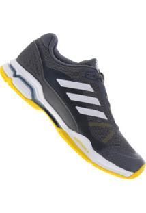 Tênis Adidas Barricade Club - Masculino - Cinza Escuro/Amarelo