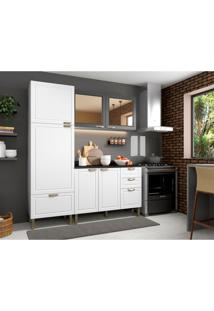 Cozinha Compacta Nevada Viii 6 Pt 4 Gv Branca E Grafite