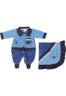 Enxoval Infantil Para Bebê Menino - Azul