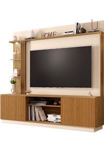 Estante Home Theater Para Tv Até 65 Pol. Atlanta Cinamomo/Off White/Ri