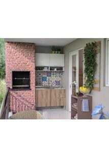 Cozinha Compacta 4 Portas Essence Branco/Desira - Aroma