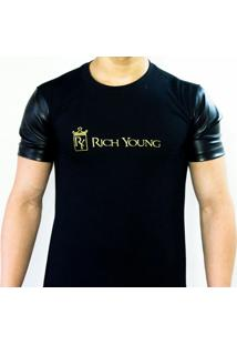 Camiseta Manga De Couro Rich Young