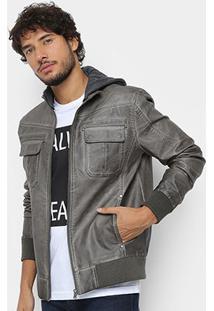 Jaqueta Calvin Klein Estonada Capuz Masculina - Masculino
