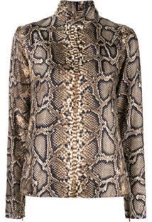 Victoria Beckham Blusa Com Estampa Pele De Cobra - Estampado