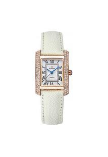 Relógio Feminino Wwoor 8806 - Branco E Dourado
