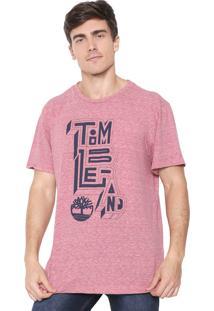 Camiseta Timberland Outline Vermelha
