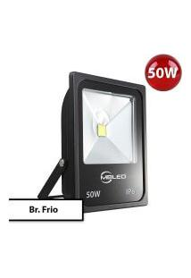 Refletor Holofote Led Slim Smd 50W Ip65 Cores