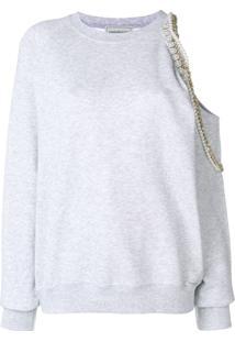 Forte Dei Marmi Couture Blusa De Moletom 'Cindy Crawford' Com Aplicação - Cinza