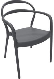 Cadeira Sissi Com Braço Grafite 92045007 Tramontina