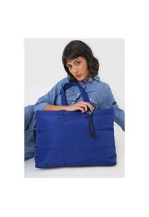Bolsa Santa Lolla Puffer Azul-Marinho