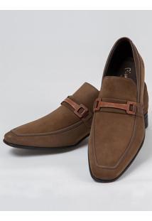 Sapato Social Camurça Marrom