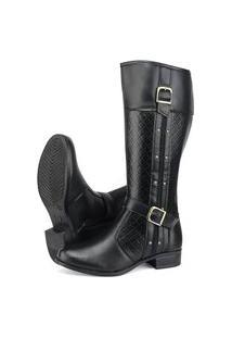 Bota Cano Alto Sw Shoes Montaria Preto