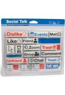 Imã De Geladeira Social Talk Geek - 18 Peças