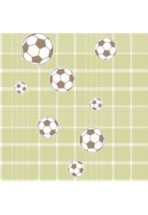 Papel De Parede Coleção Bim Bum Bam Verde Branco Futebol 2245 Cristiana Masy