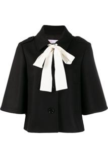Red Valentino Bow Detail Jacket - Preto