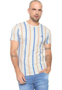 Camiseta Iódice Listras Cinza