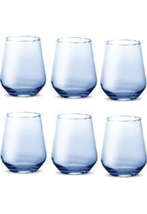 Conjunto De Copos Miami Solid Color 420 Ml - Azul - Casa Linda