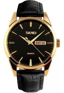 Relógio Skmei Analógico 9073P Dourado