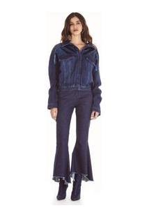 Jaqueta Premium Jeans Com Aplicacao Paete Jeans
