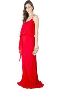 Vestido Longo Básico Calvin Klein - Feminino-Vermelho
