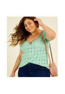 Blusa Plus Size Feminina Open Shoulder Laise