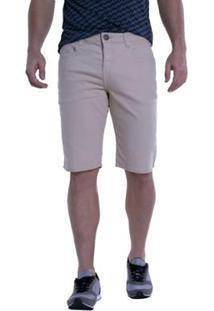 Bermuda Jeans Denuncia Middle Masculina - Masculino-Bege