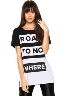 Camiseta Redley Road Preta/Branca
