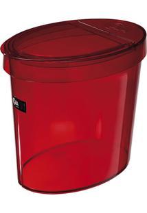 Lixeira Oval Vermelha 5,0 Litros