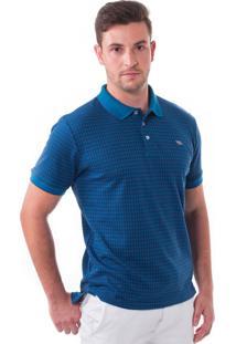 Camisa Polo Vista Mare Côte Dazur Slim Fit Azul