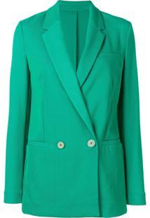 Pinko Blazer Com Abotoamento Duplo - Verde