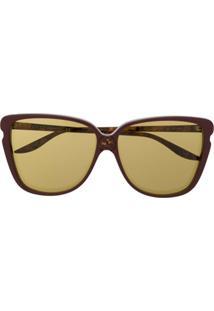 Gucci Eyewear Óculos De Sol Borboleta Gg0709S - Roxo