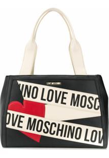 Love Moschino Bolsa Tote Com Logo - Preto