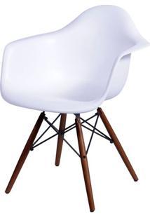 Cadeira Eames Com Braco Base Escura Branco Fosco - 44881 - Sun House