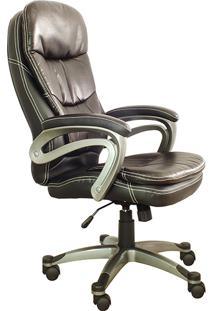 Cadeira Presidente Pel-9018H Giratória Marrom - Pelegrin