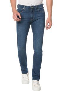 Calça Jeans Five Pocktes Slim Ckj 026 Slim - Azul Médio - 40
