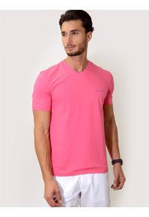 Camiseta V Slim Fit Pink
