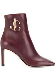 Jimmy Choo Heeled Logo Ankle Boots - Vermelho